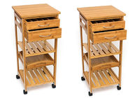 Hot Sale High Quality Decor 4-Tier Bamboo Home Furniture Kitchen Trolley
